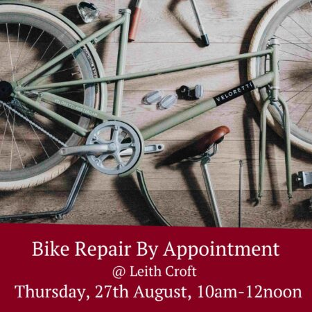 Bike Repairs by Appointment – Thursday 27th August