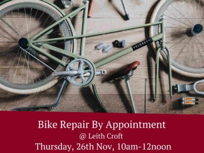 Bike Repair by Appointment – Thursday 26th November